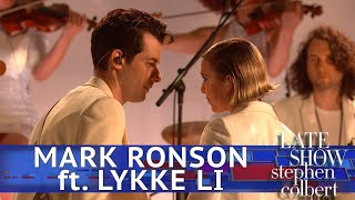 Mark Ronson Performs 'Late Night Feelings' ft. Lykke Li