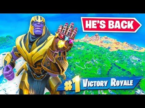 THANOS IS BACK IN FORTNITE!!! (Avengers Endgame)