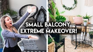 EXTREME BALCONY MAKEOVER! **TRANSFORMATION**