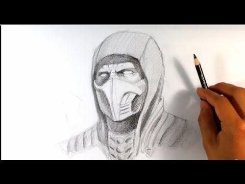 Видео как нарисовать Скорпион из Мортал Комбат