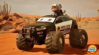 #appMink Brave Car Superheros (Fire Truck, Police Car & Garbage Truck) Catch Evil Bus