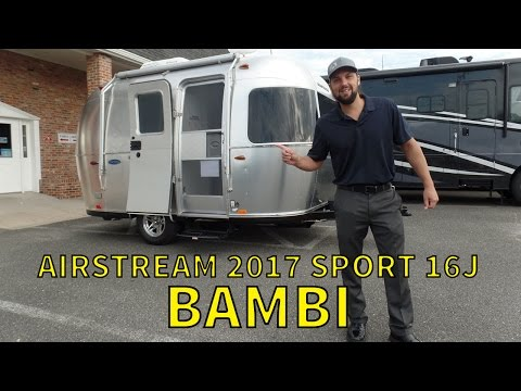 Walk Through 2017 Airstream Sport 16J Bambi Small Travel Trailer