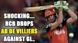 IPL 10: AB de Villiers out of RCB vs GL clash in Rajkot | Oneindia News