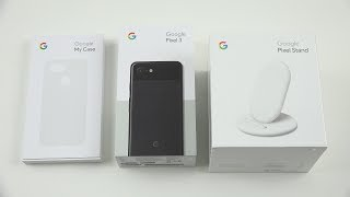 Google Pixel 3 and Google Pixel Stand Unboxing (Wireless Fast Charger)