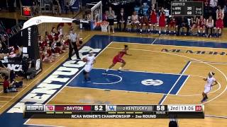 Dayton Women's Basketball: Kentucky NCAA 2nd Round Highlights
