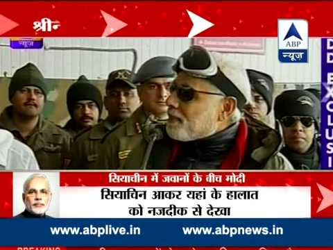 Modi hails bravery of soldiers in Siachen l Celebrates diwali with them