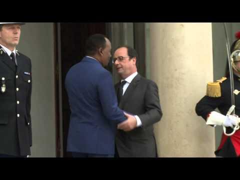 POLITIQUE - Le Président Du Niger Mahamadou Issoufou Recu à L'Elysée