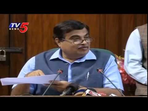 Central Minister Nitin Gadkari Speaks about Land Acquision Bill : TV5 News