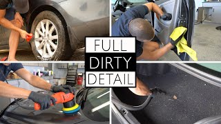COMPLETE DIRTY CAR DETAIL || Full Interior and Exterior Cleaning of a Toyota Camry!