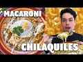 Oscar Attempts to Cook MACARONI CHILAQUILES || Foodbeast Recipe Challenge