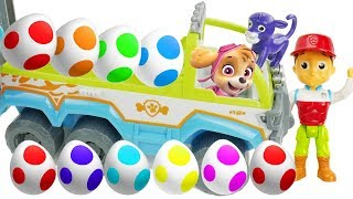 Best Learning Colors Video for Children Paw Patrol Jungle Patroller Surprise Eggs with Skye & Chase