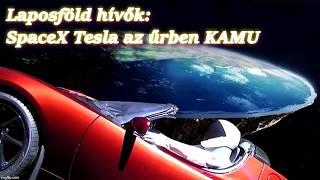 LAPOSFÖLD hívők társasága: A SpaceX Tesla az űrben egy NASA stúdióban készült CGI