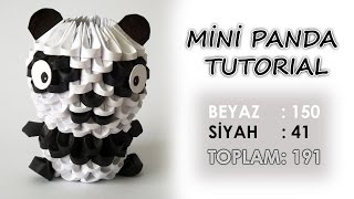 3D Origami Mini Panda Yapımı (Mini Panda Tutorial)