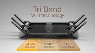 NETGEAR Nighthawk X6 AC3200 (R8000) Tri-Band Wifi Router Product Demo