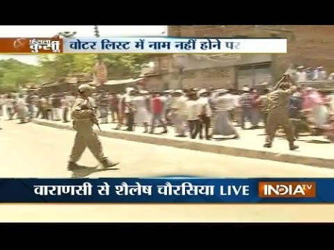 Varanasi people protest for not having name in voter list