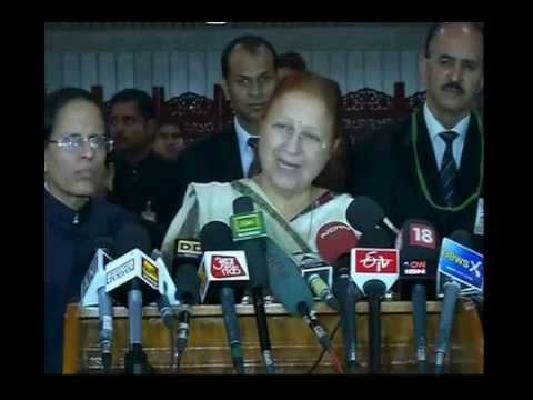 Lok Sabha Speaker Sumitra Mahajan called for an all-party meet
