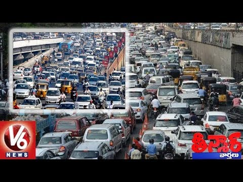 Every Day, 2500 New Vehicles Hit Telangana Roads | Teenmaar News | V6 News