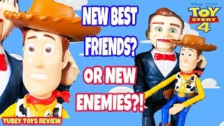 New Toy Story 4 Benson & Woody 2-Pack Poseable Figures Giant Articulated Benson Doll! Tubey Toys