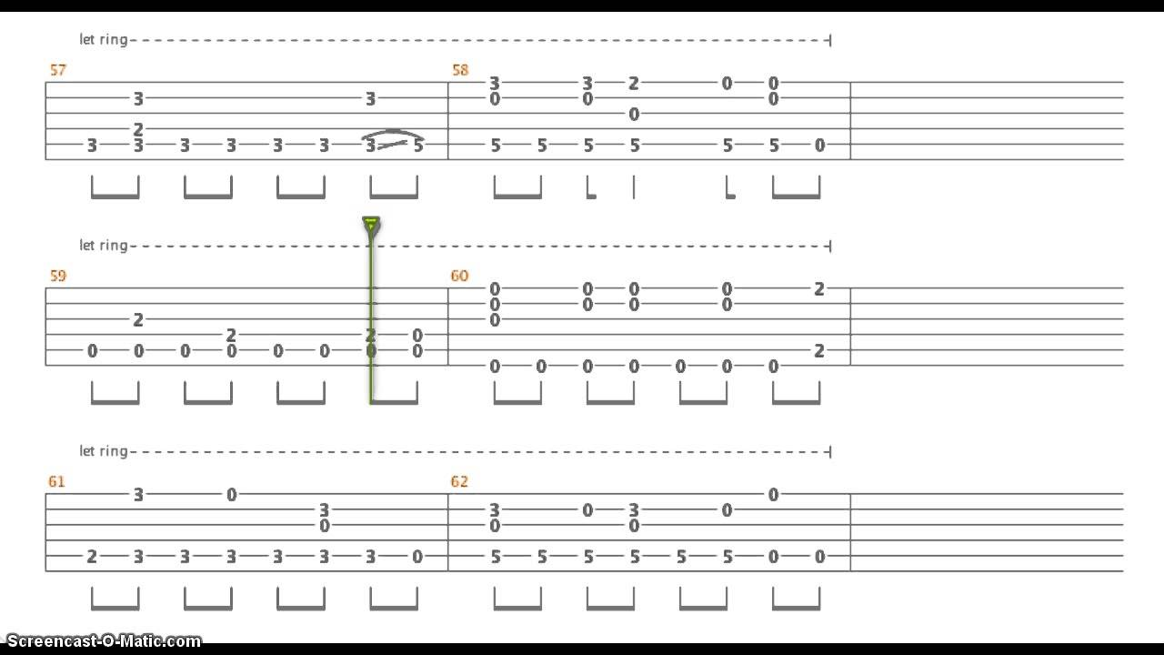 Guitar tabs let it go