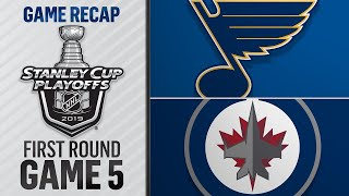Blues rally in 3rd to beat Jets, grab 3-2 series lead