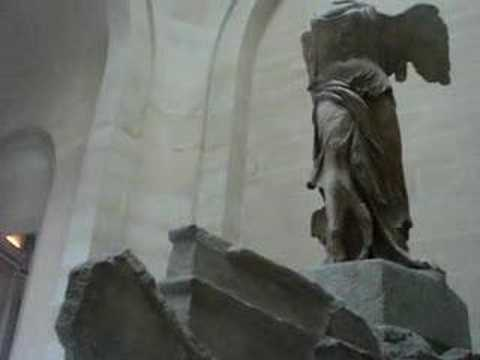 Winged Victory of Samothrace at Louvre Video
