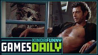 Jeff Goldblum Comes to Jurassic World Evolution - Kinda Funny Games Daily 03.13.18