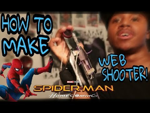 How To Make A SPIDERMAN HOMECOMING WEB SHOOTER Out Of Household Items!