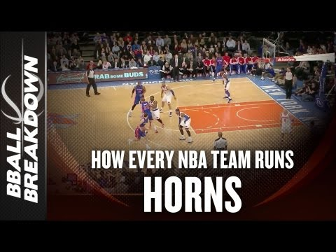 NBA 2012-13: How Every Team In the NBA Uses HORNS