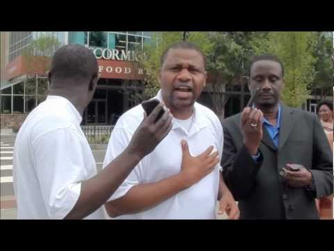 THE GAMBIA DAY OF OUTRAGE... Gambians Protest in ATLANTA AGAINST YAHYA JAMMEH