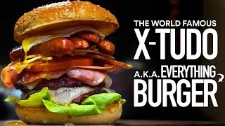 I Made a GIANT BURGER with EVERYTHING on it!  | Guga Foods