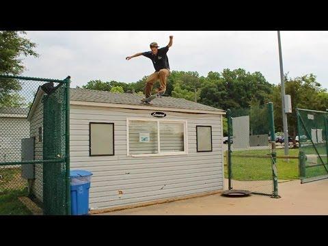 Skater Jumps off a Roof!