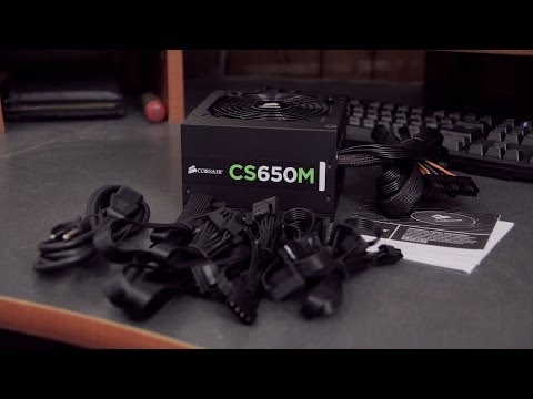 Corsair CS650M 650 Watt PSU Unboxing & Overview