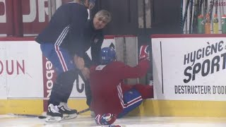 Pacioretty shocked after Drouin unknowingly jumped on ice without skate blades