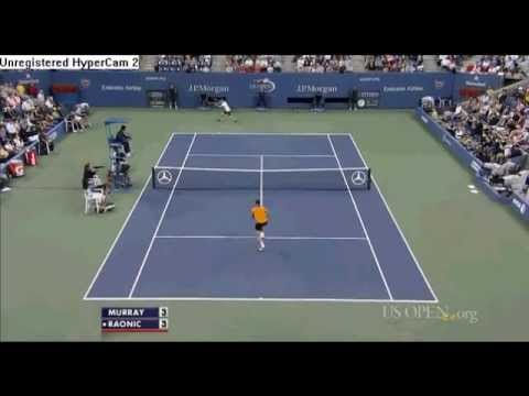 Andy Murray vs Milos Raonic Highlights US OPEN 2012