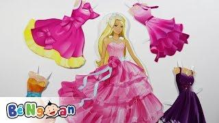Đồ chơi trẻ em ~ Thay trang phục cho công chúa Barbie ~ Thời trang dự tiệc phần 1