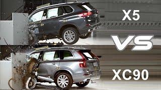 2019 BMW X5 vs 2019 Volvo XC90 - CRASH TEST
