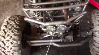 Axial wraith new upgrade servo winch and moving of esc and