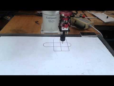 Mitsubishi Industrial Robot Pattern drawing task.