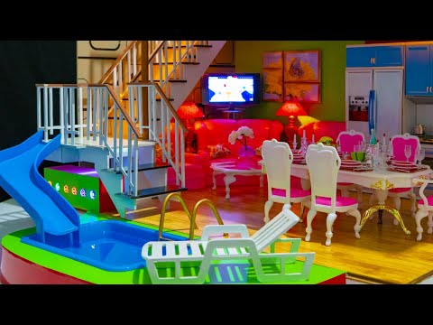 DIY КАК СДЕЛАТЬ МИНИАТЮРНЫЙ  ДОМИК  DIY Miniature Dollhouse ~ a Kitchen, Living Room, Bedroom