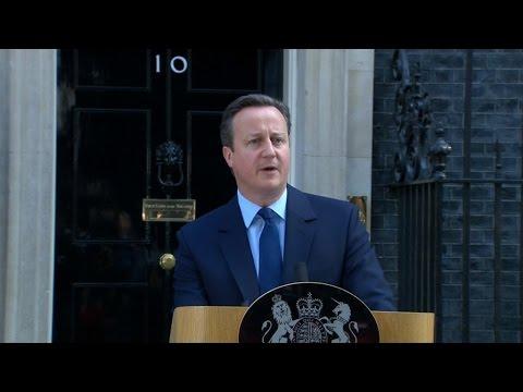 Brexit: David Cameron annonce qu'il va quitter ses fonctions de Premier ministre