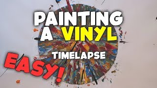 Painting a Vinyl | Easy | Acrylic Abstract Painting Timelapse | Art Ideas