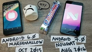 Android - Comparing Stock Marshmallow 6.0 vs Stock Nougat 7.0 + Battery Life Results