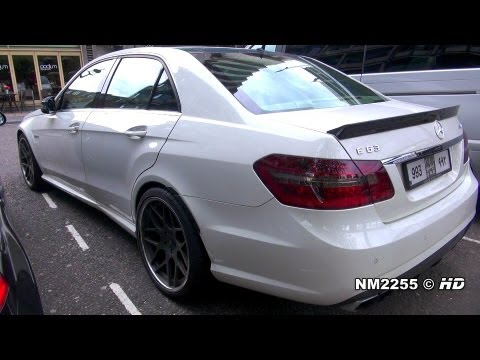 Hamann Mercedes E63 AMG CRAZY Driving and Revs on Road!