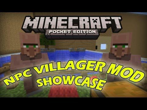 VILLAGERS MOD IN Minecraft Pocket Edition - Mod ShowCase [0.8.1]