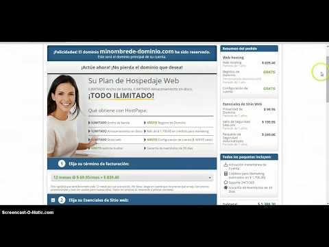 Como Contratar un Hosting web con HostPapa