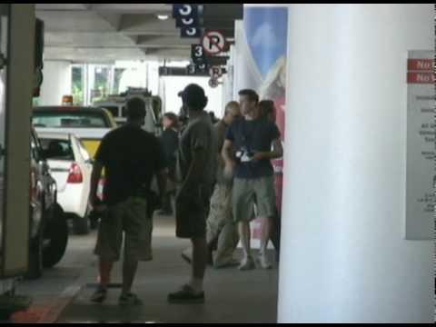 Leonardo DiCaprio at Inception movie set LAX Airport 009 - 102609 - PapaBrazzi Report