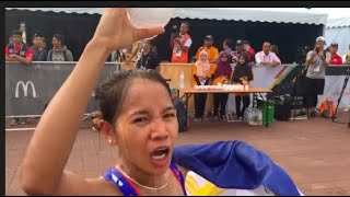 Tabal delivers first gold medal for PH, rules women's marathon