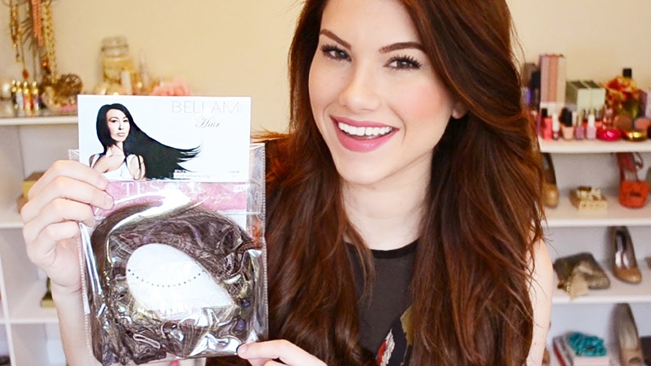 Bellami Hair Extensions Demo Amp Review 220g Chocolate