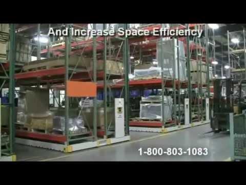 Motorized Pallet Racks | Rolling Warehouse Racking | Heavy Duty Industrial Storage