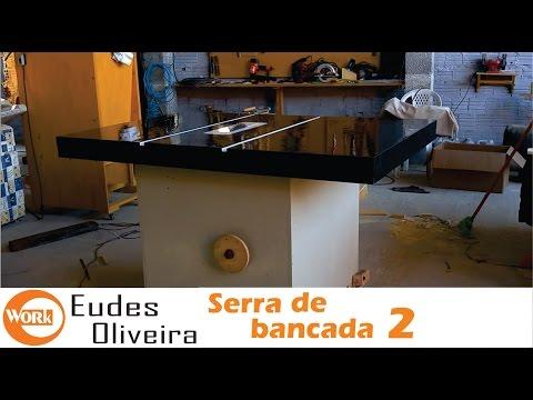 Como fazer serra circular de bancada caseira - Parte 2 - How to make table saw.  - Part 2